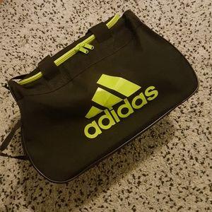 Adidas black & green mini gym bag